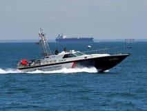 沿海警察巡逻艇 免版税库存照片