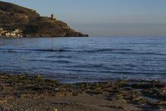 沿海设防 Azohia,卡塔赫钠,穆尔西亚,西班牙 免版税图库摄影