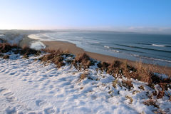 沿海路线包括高尔夫球雪 免版税库存图片