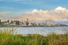沿海都市场面,蒙得维的亚,乌拉圭 库存照片