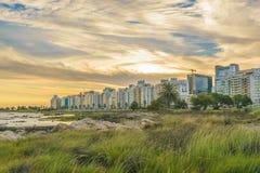 沿海都市场面,蒙得维的亚,乌拉圭 库存图片