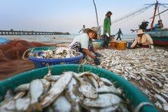 沿海钓鱼的洛坤府泰国 库存照片