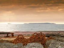沿海链子 图库摄影