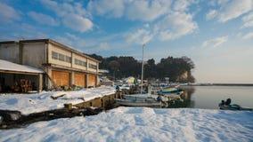 沿海雪海码头口岸 免版税库存照片