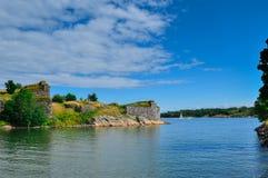 沿海风景。 免版税图库摄影