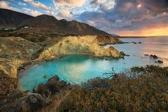 沿海风景在克利特,希腊 免版税库存照片