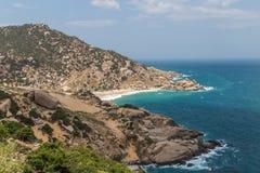 沿海风景在越南 库存照片