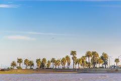 沿海风景场面,蒙得维的亚,乌拉圭 图库摄影