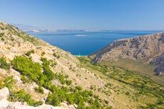 沿海风景,克罗地亚 免版税库存图片