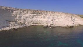 沿海,空中录影岩石峭壁  股票录像