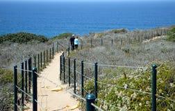 沿海贤哲公共在达讷论点陆岬保护地区 免版税库存照片