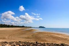 沿海滩的风景 免版税库存照片