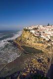 沿海Azenhas在葡萄牙毁损 库存图片