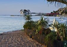 沿海eilat以色列餐馆 免版税库存图片