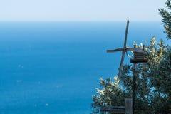 沿海equense横向阶索伦托vico 免版税库存照片
