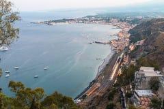 沿海equense横向阶索伦托vico 免版税库存图片