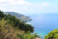 沿海equense横向阶索伦托vico 库存照片