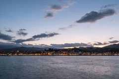 沿海equense横向阶索伦托vico 图库摄影