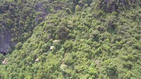 沿用森林俯视图盖的山的行动 影视素材