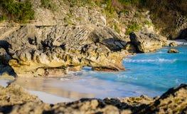 沿百慕大海岸线的小海湾 免版税库存照片
