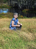 沿着池塘在路易斯安那 库存照片