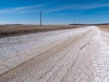沿美国最偏僻的路 免版税库存图片