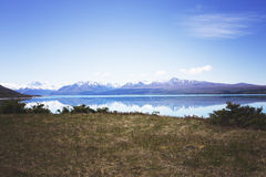 沿路的美好的神色点向Mt厨师国家公园 库存图片