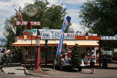 沿路线66的典型的餐馆在亚利桑那,美国 图库摄影