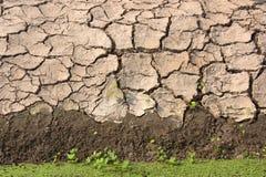 沿运河的土壤。 图库摄影