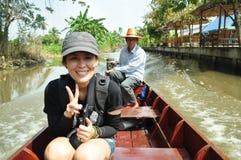 沿运河的观光旅游 库存图片