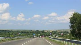 沿风景阿尔泰边疆区的旅行 股票视频