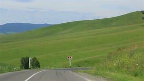 沿风景阿尔泰边疆区的旅行 影视素材