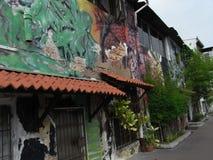 沿马六甲运河的艺术 库存照片