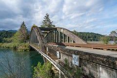沿101的老桥梁 库存照片
