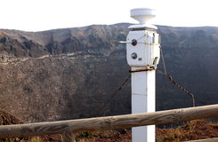沿维苏威火山,那不勒斯,意大利的地震仪 免版税库存照片