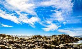 沿17英里驱动的天空展示在Carmel,加州附近 库存图片