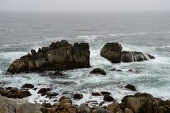 沿17英里驱动的海岸线 图库摄影