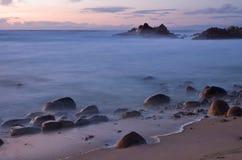 沿17英里驱动的超现实的海洋场面 免版税库存照片