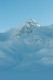 沿Bernina的高山阿尔卑斯山风景 免版税库存照片