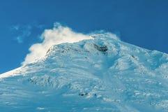 沿Bernina的高山阿尔卑斯山风景 免版税库存图片