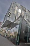 沿Breier Weg的现代办公楼在马格德堡 免版税图库摄影