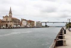 沿Galiffet运河,法国的Martigues 免版税库存图片