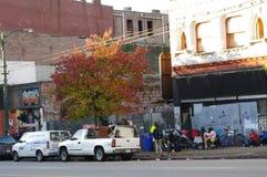 沿Hasting街的街道生活 库存照片