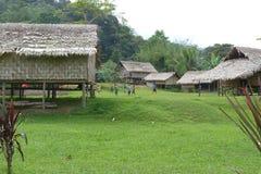 沿Kokoda轨道的村庄 库存照片