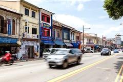 沿Serangoon路的一点印度在新加坡 库存照片