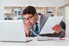 泄漏在电话的商人机密资料 免版税库存图片