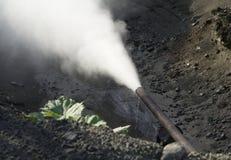 泄漏的管道蒸汽 免版税库存照片