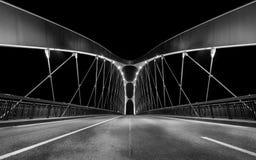 法兰克福东部港口桥梁  免版税库存图片