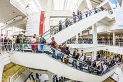 法兰克福书市的访客2014年 图库摄影
