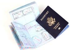 法兰克福伦敦护照罗马我们 免版税库存照片